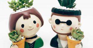 Cute DIY Doll Pots From Water Bottles