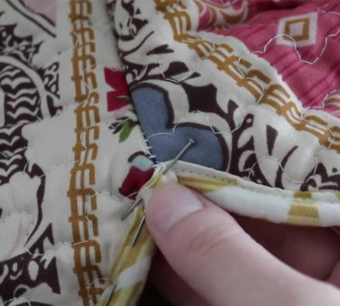Attach Binding To DIY Jacket - Quilt DIY