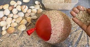 DIY Flower Vase Made From Seashells