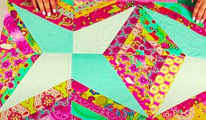 Quilt-As-You-Go Jelly Roll String Quilt