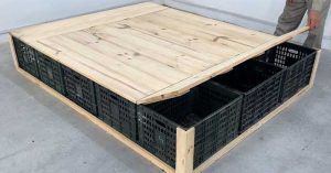 How To Turn Cheap Storage Crates Into A Platform Bed