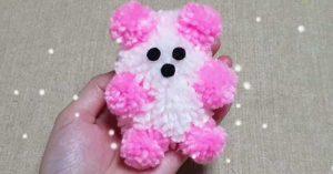 No Sew Yarn Teddy Bear Craft