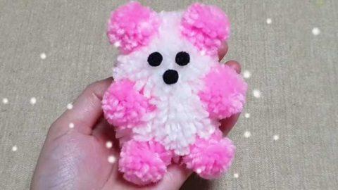 No Sew Yarn Teddy Bear Craft   DIY Joy Projects and Crafts Ideas