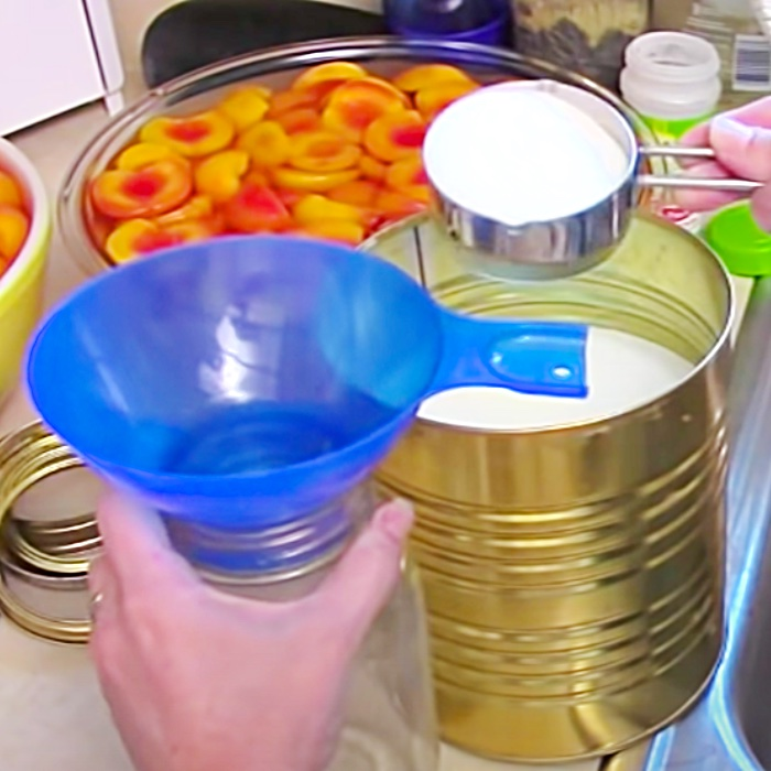 How To Can Peaches - Easy Canned Peaches Recipe - Can Your Own Food - How To Can Food At Home