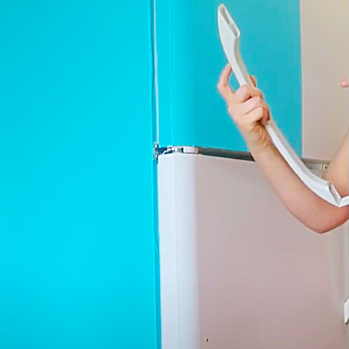 Contact Paper Fridge Makeover - Easy Way To Update A Fridge - Kitchen Update Ideas