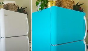 $20 Contact Paper Fridge Makeover