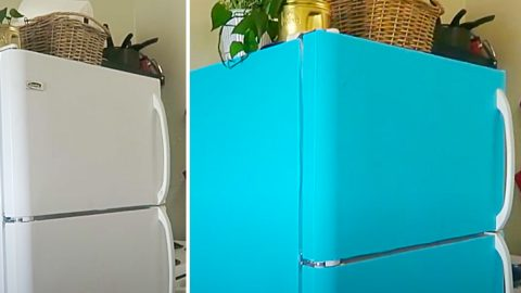 $20 Contact Paper Fridge Makeover | DIY Joy Projects and Crafts Ideas