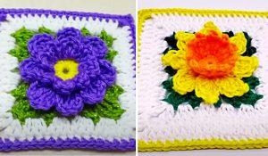 How To Make Crochet Flower Granny Squares