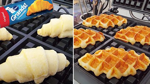 Canned Croissant Waffle Recipe   DIY Joy Projects and Crafts Ideas