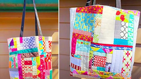How To Make A Crumb Quilt Tote Bag | DIY Joy Projects and Crafts Ideas
