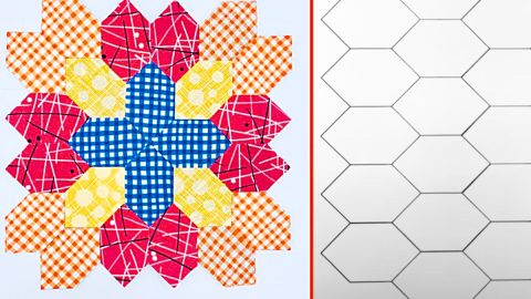 Lucy Boston Patchwork Cross Quilt Block With Free Pattern | DIY Joy Projects and Crafts Ideas