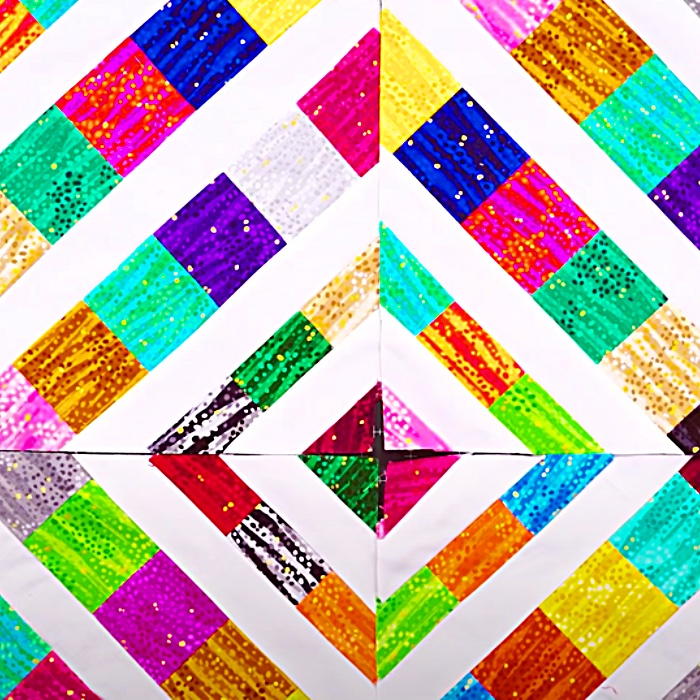Triple Play Paper Piecing Quilt - Easy Quilt Pattern - Free Quilt Pattern - How To Paper Piece A Quilt