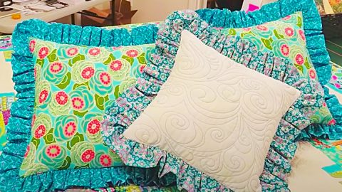 How To Make A Ruffled Pillow Sham | DIY Joy Projects and Crafts Ideas