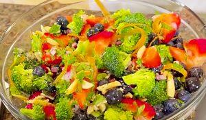 Paula Deen's Broccoli And Berry Salad Recipe