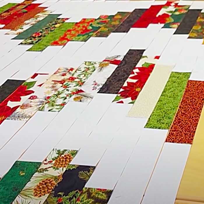 Christmas In July Candy Cane Quilt - How To Make A Quilt - Easy Quilt Pattern