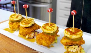 Chicken And Waffle Bites Recipe