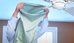 How To Clean A Ceiling Fan With A Pillow Case
