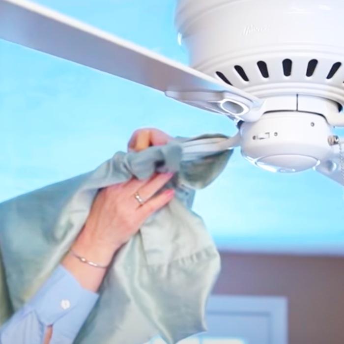 Pillowcase Hack - Ceiling Fan Hack - Cleaning Hacks