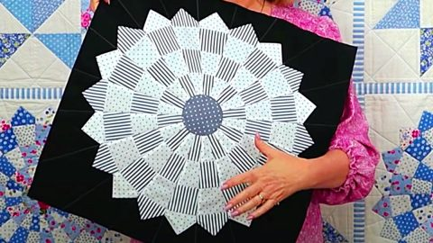 How To Make A Dresden Plate Quilt Block | DIY Joy Projects and Crafts Ideas