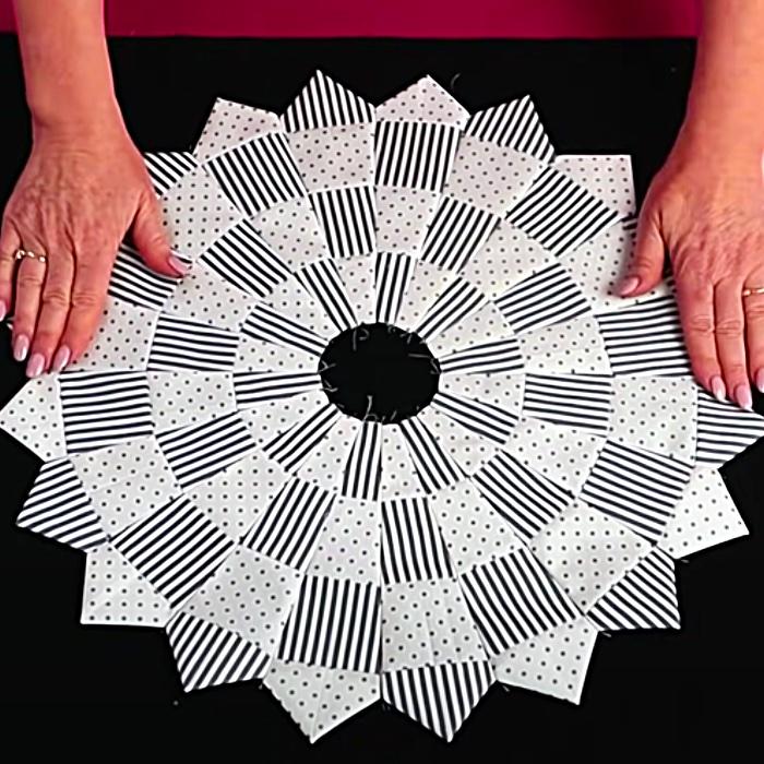 Quilt As You Go Dresden Pattern - Easy Dresden Quilt - How To Make A Dresden Quilt Block