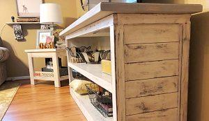 DIY Farmhouse TV Stand