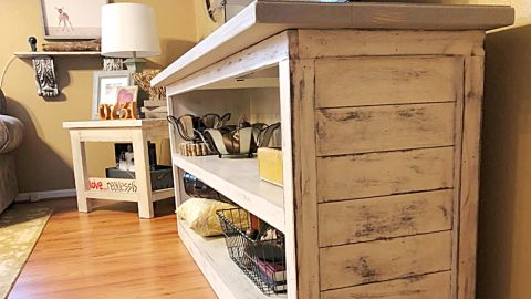 DIY Farmhouse TV Stand | DIY Joy Projects and Crafts Ideas