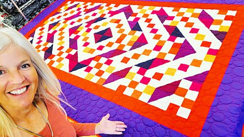 Plaza Pattern Beginner's Fat Quarter Quilt | DIY Joy Projects and Crafts Ideas