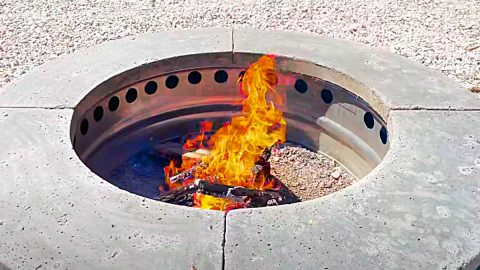 DIY Smokeless Fire Pit Build | DIY Joy Projects and Crafts Ideas