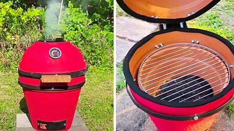 DIY Flower Pot Kamado BBQ Grill | DIY Joy Projects and Crafts Ideas