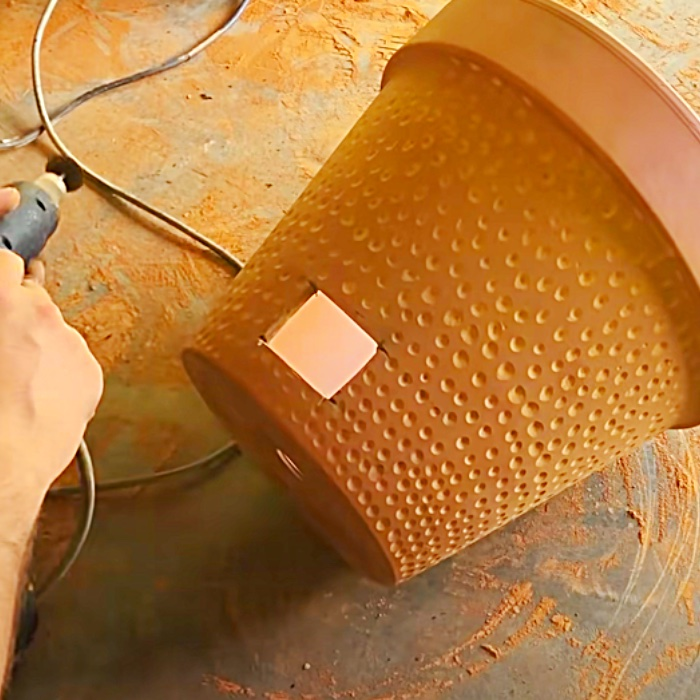 How To Make A Grill From A Flower Pot - Easy DIY Grill - DIY Outdoor Cooking