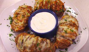 Air Fryer Hasselback Potatoes Recipe