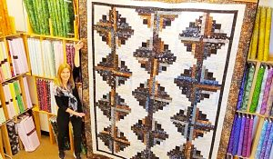 Jelly Roll Log Cabin Quilt With Free Pattern