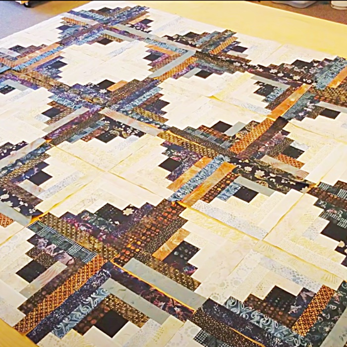 How To make A Log Cabin Quilt - Easy Quilt Pattern - Easy Sewing Patterns - Fun Sewing Ideas