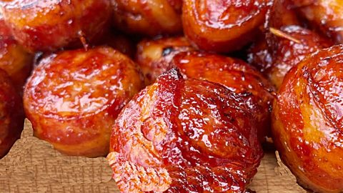 Bacon-Wrapped Meatball Recipe | DIY Joy Projects and Crafts Ideas