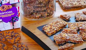 Girl Scout Samoa Cookie Toffee Recipe