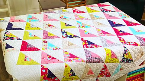 Scrappy Triangle Quilt Pattern   DIY Joy Projects and Crafts Ideas