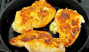 Cheesy Spinach-Stuffed Chicken Breasts Recipe