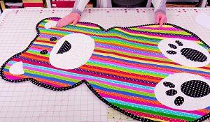 How To Make A Fabric Strip Teddy Bear Rug