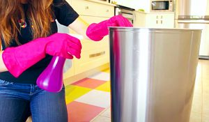 Easy Way To Clean Indoor And Outdoor Trash Cans