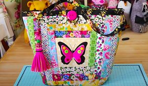 Patchwork Butterfly Tote Bag With Free Pattern