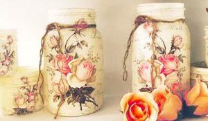 How To Decoupage Mason Jars