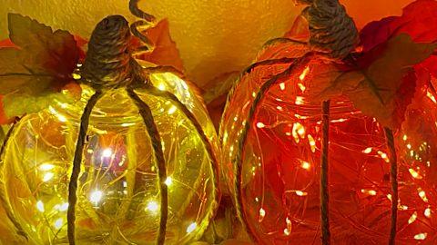 DIY Dollar Tree Pumpkin Lights   DIY Joy Projects and Crafts Ideas
