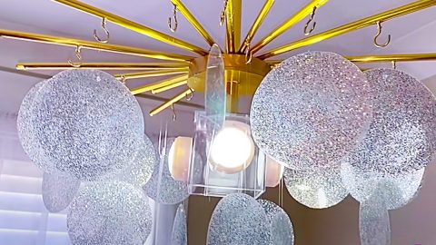 Turn Dollar Tree Mats Into High-End Lighting | DIY Joy Projects and Crafts Ideas