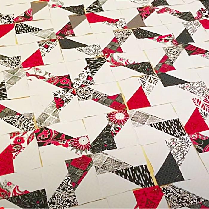 Zero Waste Quilt By Donna Jordan - Easy Quilt Pattern - Easy Sewing Ideas