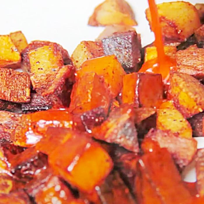 Potato Recipe - Fried Potatoes With Buffalo Sauce - Buffalo Wings Potatoes Recipe