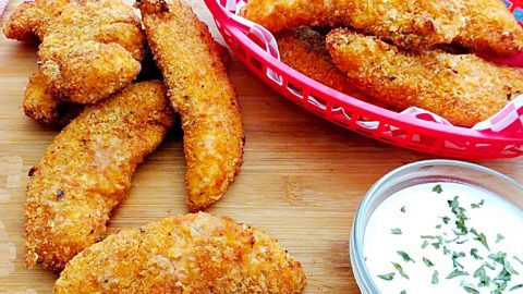 Air Fryer Crusted Chicken Tenders Recipe | DIY Joy Projects and Crafts Ideas