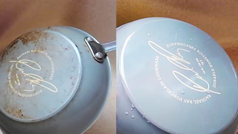 Clean Grungy Pots And Pans In 2 Minutes | DIY Joy Projects and Crafts Ideas