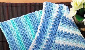 How To Crochet A Moss Stitch Dishcloth