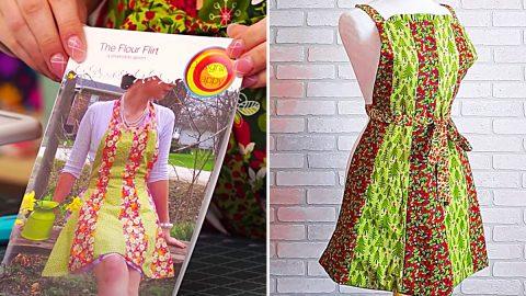 Flour Flirt Reversible Apron   DIY Joy Projects and Crafts Ideas