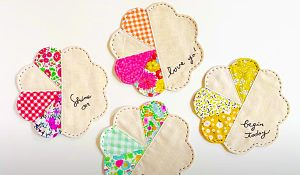 How To Make Patchwork Flower Coasters